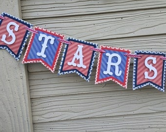 Stars & Stripes 4th of July Paper Banner
