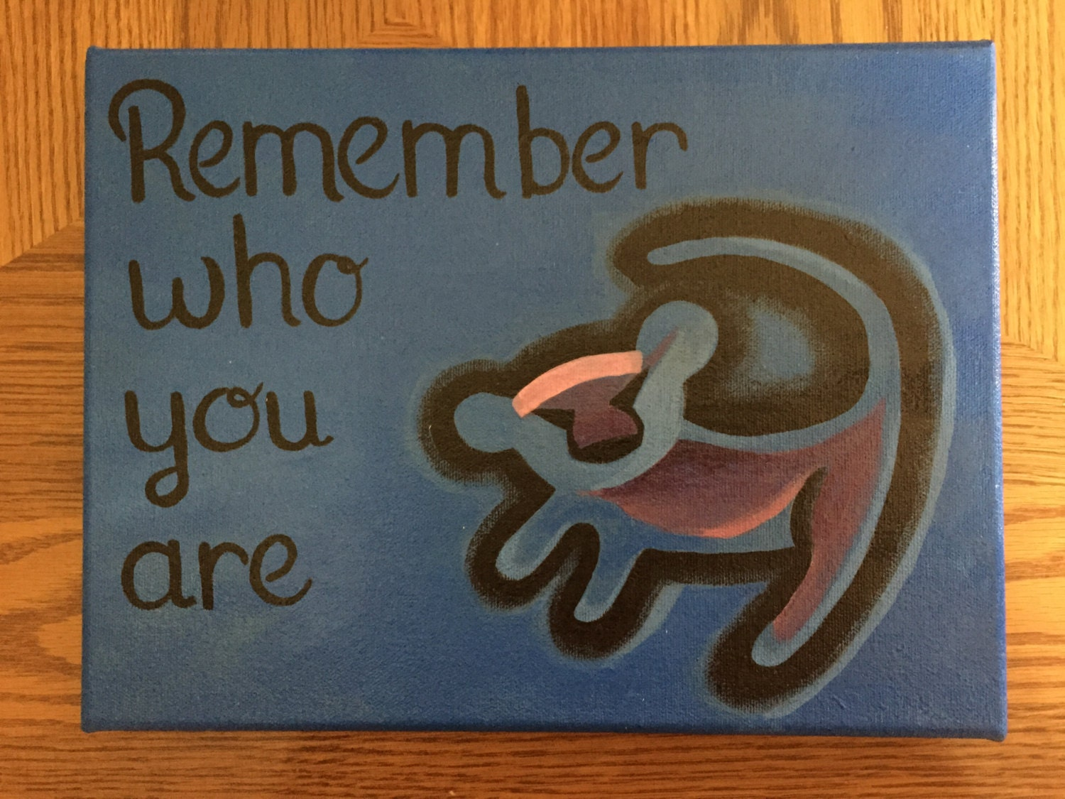 Disney's The Lion King Quote Acrylic Painted 9x12 Canvas
