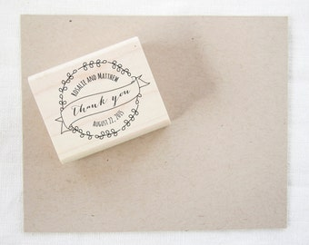 Wedding Favor Stamp - thank you stamp - wedding stamp - custom stamp - custom wedding stamp - favor stamp - rubber stamp - thank you - Z1026
