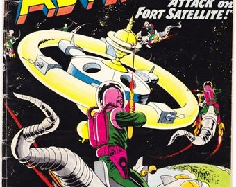 Strange Adventures 98, Sci-fi, Outer Space comic. UFO theme, Satellite, Alien, vintage Astronaut book. 1958 DC Comics in VG+ (4.5)