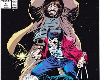 Wolverine 6, x-men comic book, Costume, Claws, Mask, Cosplay, Boots, Xmen, Regular Series. Buscema art. 1989 Marvel Comic in NM+ (9.6)