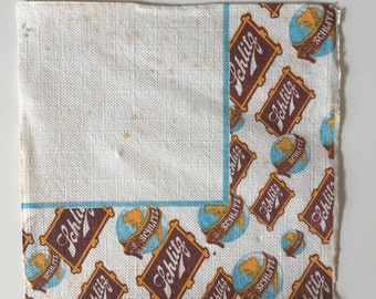 Vintage Paper 1968 Schlitz Beer Bar / Cocktail Napkins