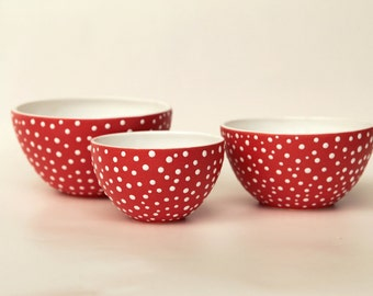 "Set of bowls ""Amanita"""