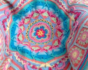 """Sophies Garden Crochet Baby Blanket 31"""" x 31"""""""
