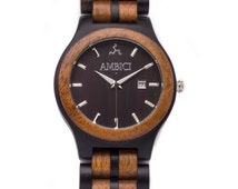 Ambici Men's Wooden Watch- The Ebony