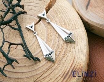 Arrowhead earrings(ETS031A(W))