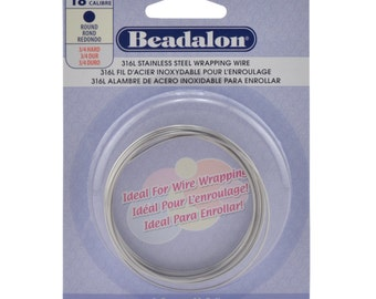 18G (316L) Stainless Steel - (Round) Wire-Wrapping Wire by Beadalon