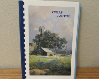 Vintage Cookbook, Texas Tastes, 1987