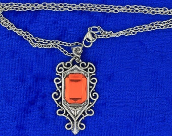 Isabelle Necklace Silver Red Color Mortal Instruments City of Bones