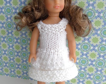 Mini American Girl doll clothes - hand knit dress