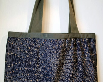 Unique  asanoha pattern shopping bag.