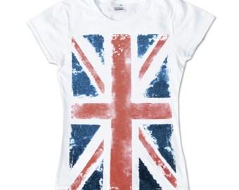 Union Jack - ladies shirt girlie Great Britain United Kingdom UK England London flag