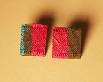 Earrings title:  love on Pink