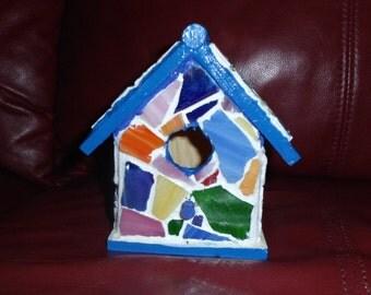 Small Mosaic Birdhouse