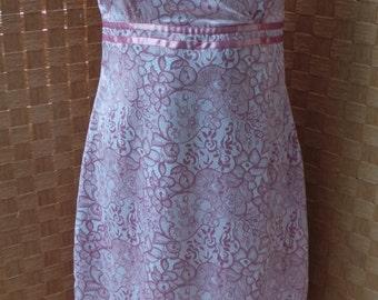 60s - 70s Pink Satin Dress