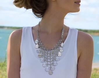 Rajah Silver Bib Necklace