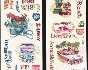 Miss Elizabeths Road Trip Clear Sticker Sheet Double Sided Acid Free Lignin Free NEW