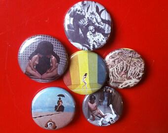 """Alejandro Jodorowsky set of 6 pin back buttons 1.25"""""""