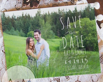 Printable Save The Date, Save The Date, Wedding, Save Our Date, CUSTOMIZED, Kat