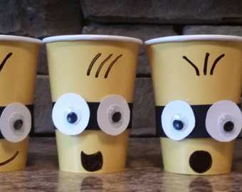 Set of 6 Minion Despicable Me Party Cups