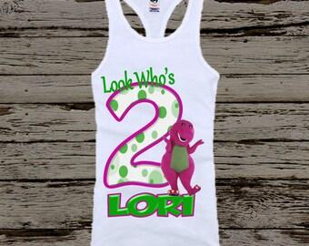 Barney Birthday Shirt - Barney Tank Top Available