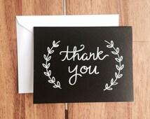 Custom Chalkboard Note Card + Envelope Addressing!