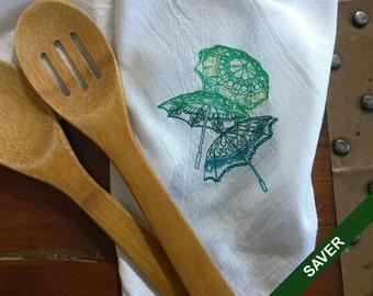 Parasol Tea Towel Flour Sack Cotton Dishtowel