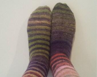 Hand knit socks - gradient striped 4