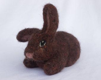 Brown Bunny- Needle Felted art