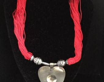 Moroccan red Sabra necklace