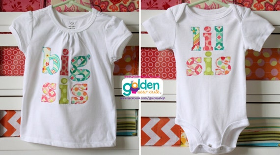 Big Sis, Lil Sis, Big or Little Sister tee, Bright Colors