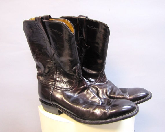 made lucchese classics black cherry leather western