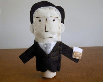 Don Draper of Mad Men Felt Finger Puppet - Free Shipping!