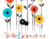 Screen Print Belle & Sebastian Poster Silkscreen - Flowers 2015 Tour Poster