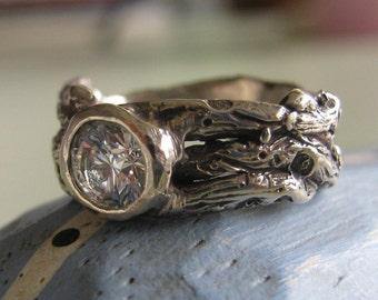 14k gold Twigs Ring - Deposit for ring -Organic