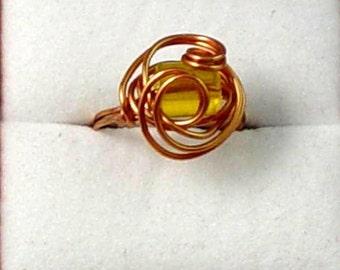 Copper Swirl Ring - Size 8-1/2