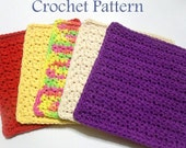 Crochet Dishcloth PATTERN, Instant Download PDF, Textured Dishcloth Pattern, Washcloth Pattern, Easy Crochet Pattern