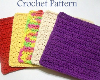 Crochet Dishcloth PATTERN, Instant Download PDF, Textured Dishcloth Pattern, Washcloth Pattern, Easy Crochet Pattern