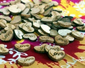 100 Tiny wooden Hearts, Love, Rustic Wedding, Confetti, Wedding, Barn Wedding, Wedding Shower, Baby Shower, Same Sex Wedding