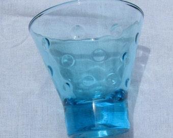 """Vintage Hazel Atlas Aqua Blue Glass Capri 3"""" Shot Gasses aka Aqua Dots"""