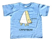 Camembear Kids Tshirt - Cute Funny Bear Pun - Foodie Cheese Snob - French - Youth and Toddler Sizes