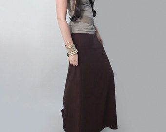 Long Skirt • Dark Brown Maxi • Floor Length Skirts • Tall & Petite Length • Loft 415 (No. 100)