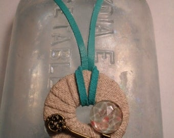 Key to Spring Washer Necklace