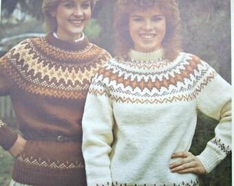 Patons stricken Vintage Muster