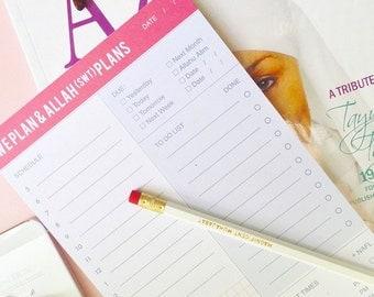 We Plan and Allah(swt) Plans: To Do & Calendar + Pencil