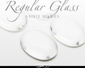 Clear glass cabochons. Clear Glass Shapes for Magnets, Mosaics, Pendants and More. 22 x 30 Regular Glass. 25 Pack