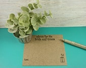 50 Rustic Farmhouse Chic Kraft Advice Cards for the Bride and Groom  - Wedding Cards