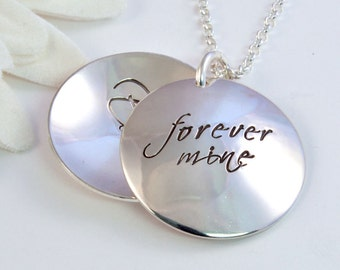 Adoption Locket - Forever Mine - Gift for Birthmother - Personalized Locket - Adoption Necklace Sterling Silver