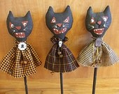 Halloween Black Cat Shaker Decorations
