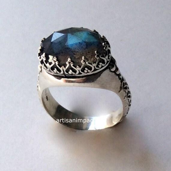 Silver engagement Ring stone ring Labradorite Ring gypsy